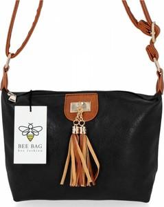 Czarna torebka Bee Bag lakierowana