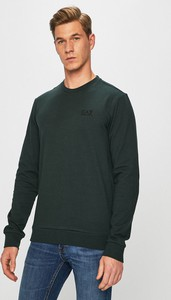 Czarna bluza EA7 Emporio Armani z dzianiny