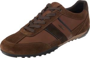 Buty sportowe Geox ze skóry w młodzieżowym stylu