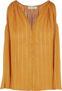 Pomarańczowa bluzka See u Soon z dekoltem w kształcie litery v w stylu casual
