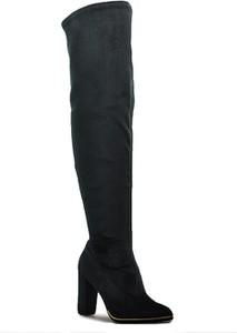 Czarne kozaki EXCLUSIVE ROBERTO w stylu klasycznym na słupku