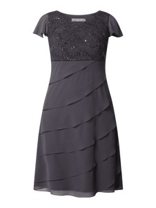 Sukienka Christian Berg Cocktail z krótkim rękawem z okrągłym dekoltem mini