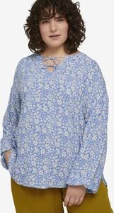 Bluzka Tom Tailor z okrągłym dekoltem w stylu casual z długim rękawem