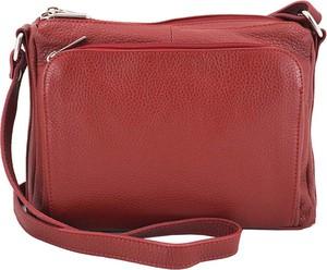 Czerwona torebka Barberini`s w stylu glamour ze skóry