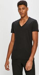Czarny t-shirt G-Star Raw z krótkim rękawem z dzianiny w stylu casual