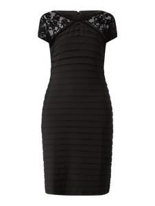 Czarna sukienka Christian Berg Cocktail z krótkim rękawem