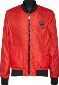 Czerwona kurtka Philipp Plein w stylu casual krótka