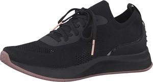 Czarne buty sportowe Tamaris sznurowane