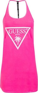 Sukienka Guess na ramiączkach z okrągłym dekoltem mini