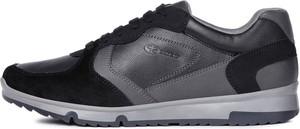 Buty sportowe Geox z zamszu sznurowane