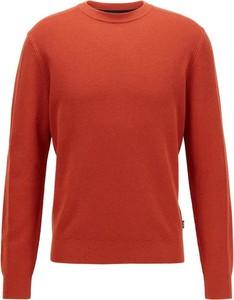 Pomarańczowy sweter Hugo Boss z dzianiny