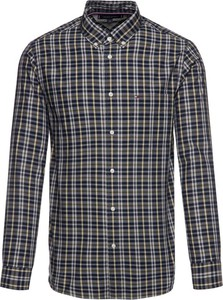 Granatowa koszula Tommy Hilfiger z kołnierzykiem button down z długim rękawem