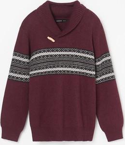 Czerwony sweter Reserved z wełny