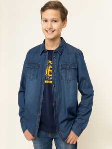 Granatowa koszula dziecięca Guess
