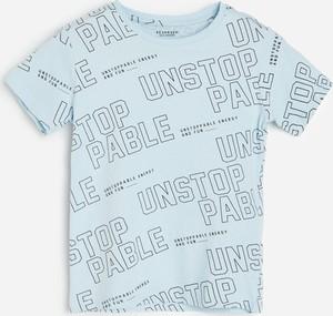 Niebieska koszulka dziecięca Reserved dla chłopców z bawełny