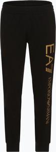Czarne spodnie sportowe EA7 Emporio Armani z bawełny