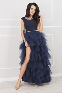 Sukienka Ptakmoda.com bez rękawów z szyfonu maxi