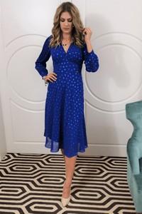 Sukienka B&b Studio midi z długim rękawem