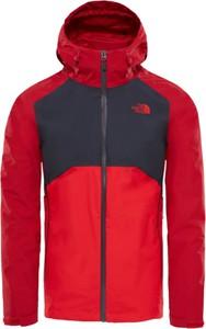 Czerwona kurtka The North Face z tkaniny