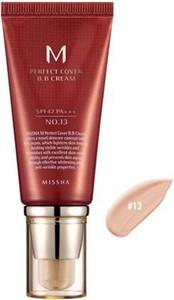 Missha krem BB No. 13 M Perfect Cover z wysoką ochroną UV odcień Light Beige SPF42/PA+++ 50 ml