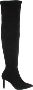 Czarne kozaki Comer Collection z zamszu