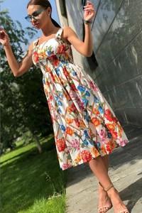 Sukienka IVET rozkloszowana w stylu casual