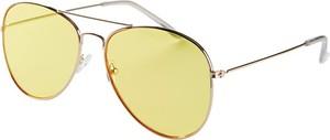 Złote okulary damskie Pieces