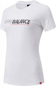 Bluzka New Balance z krótkim rękawem z okrągłym dekoltem z dżerseju