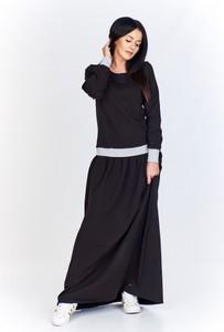 Sukienka Bien Fashion maxi z okrągłym dekoltem