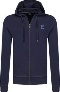 Niebieska bluza BOSS Casual w stylu casual