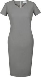 Sukienka Fokus ołówkowa midi z dekoltem w kształcie litery v