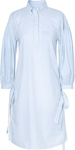 Niebieska sukienka Gant w stylu casual koszulowa z kołnierzykiem