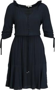 Sukienka Silvian Heach mini rozkloszowana z długim rękawem
