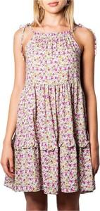 Sukienka I Am mini z okrągłym dekoltem rozkloszowana