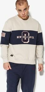 New era bluza world hood crew new era stone/night shift navy