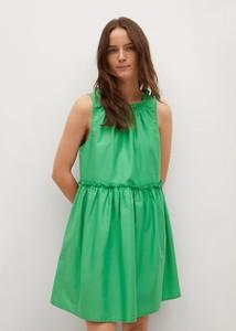 Sukienka Mango z okrągłym dekoltem w stylu casual bez rękawów