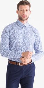Niebieska koszula CANDA ze skóry ekologicznej