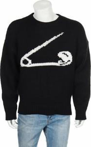 Czarny sweter Zara Knitwear z nadrukiem