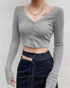 Bluzka Kendallme w stylu casual z długim rękawem