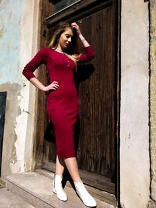 Czerwona sukienka fagobutik.pl
