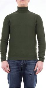 Zielony sweter Moreno Martinelli w stylu casual z kaszmiru