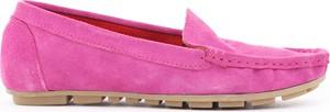 Zapato mokasyny - skóra naturalna - model 001 - kolor fuksja