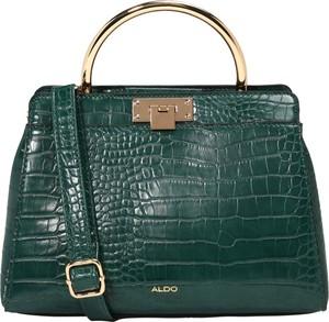 Zielona torebka Aldo średnia ze skóry do ręki