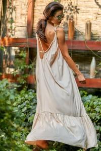 Sukienka Awama z tkaniny w stylu casual