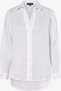 Bluzka Franco Callegari z lnu z dekoltem w kształcie litery v z długim rękawem