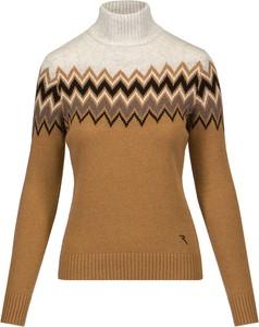 Brązowy sweter Chervo z żakardu