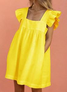 Sukienka Arilook z bawełny z dekoltem w kształcie litery v na ramiączkach