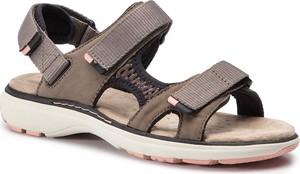 018e511cf517 Sandały Clarks w stylu casual z płaską podeszwą na rzepy