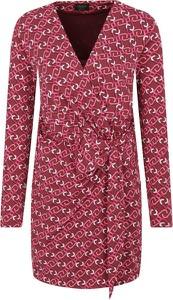 Różowa sukienka Liu-Jo z długim rękawem
