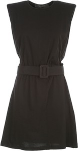 Czarna sukienka Federica Tosi z okrągłym dekoltem